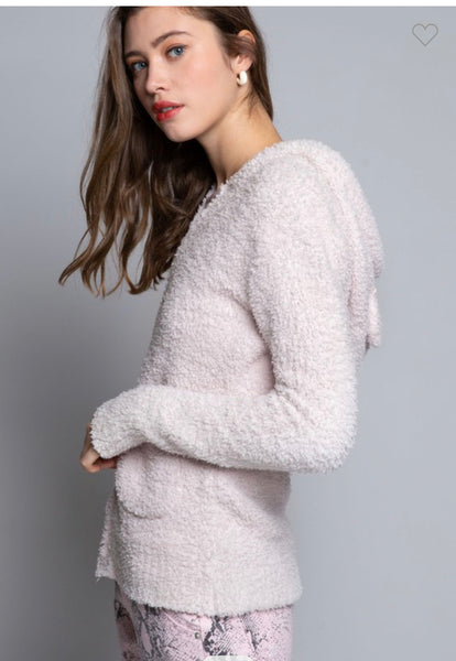 Apparel- Alexa Berber Fleece Jacket Powder Pink