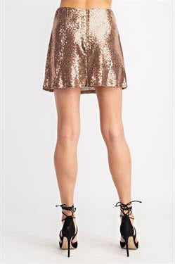 Apparel- Tommy Sequin Mini Skirt Bronze