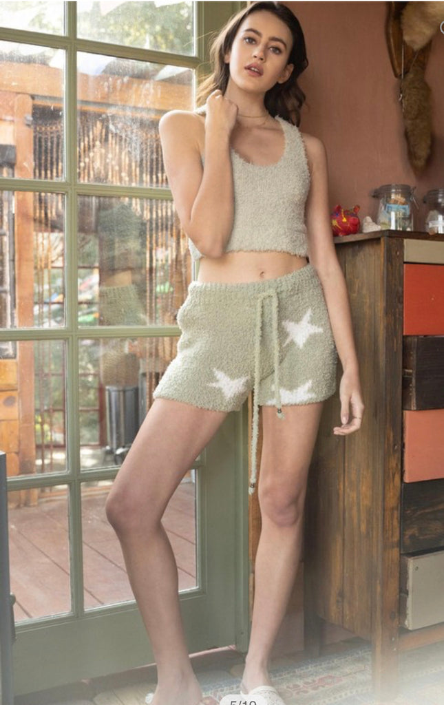 Apparel- Lowery Star Shorts Sage