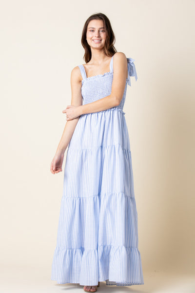 Apparel- Laine Seersucker Maxi Cornflower