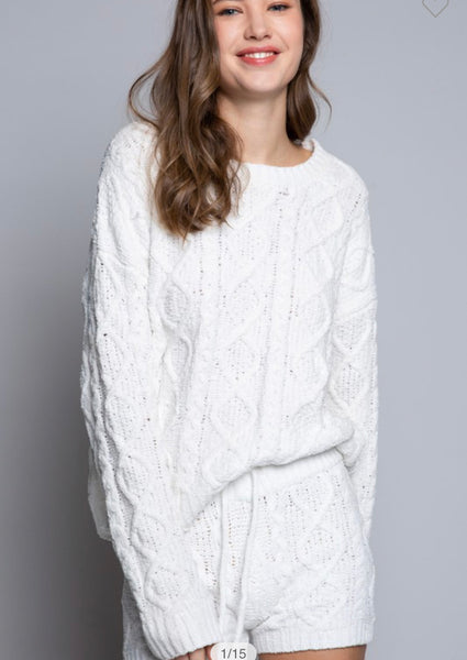 Apparel- Alicia Cable Knit Sweater