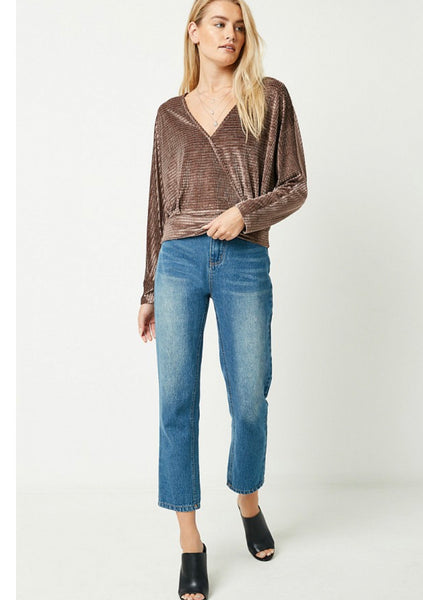 Apparel- Janie Surpluce Velvet Top