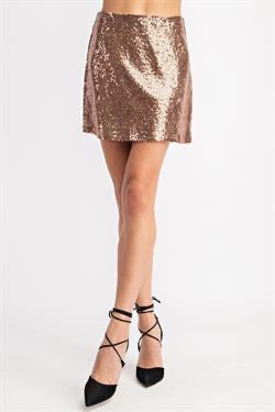 Apparel- Duff Sequin Shorts Rose Gold