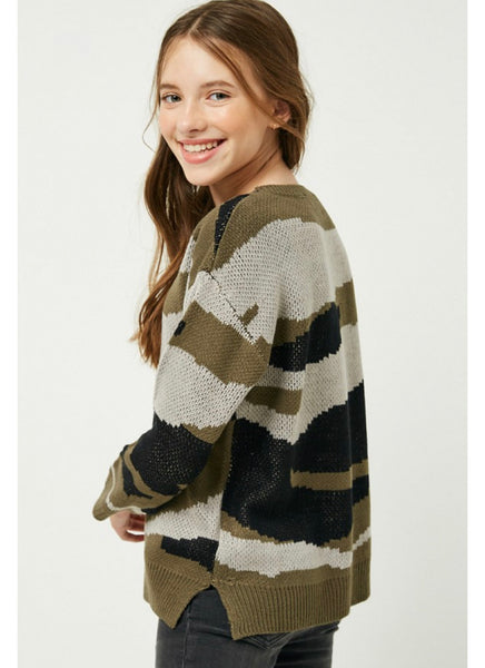 Girls- Camo Kit Sweater