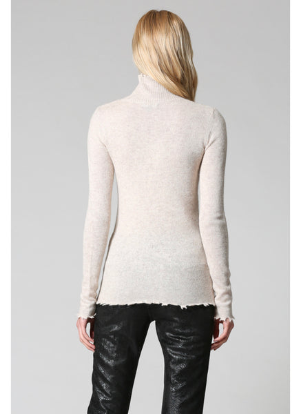 Apparel- Lydia Distressed Cashmere Blend Sweater Oatmeal