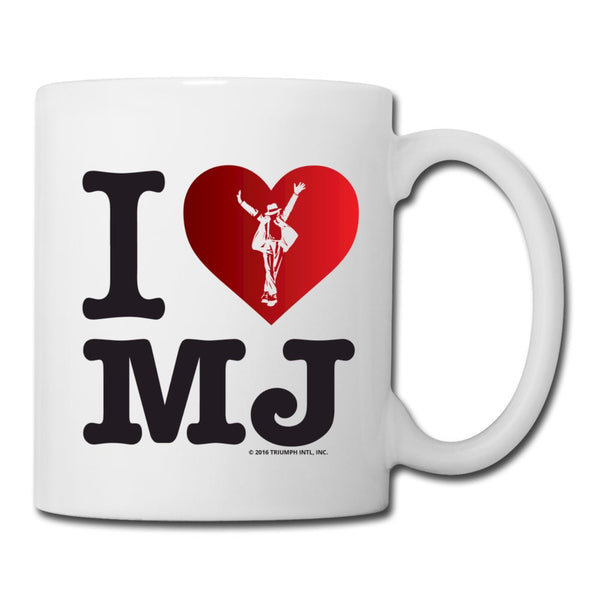 I Heart MJ White Coffee Mug
