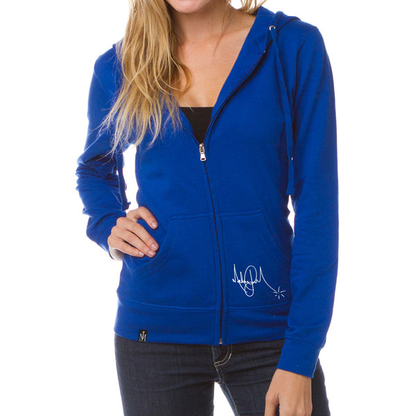 Cobalt Blue Lightweight Jersey Full Zip