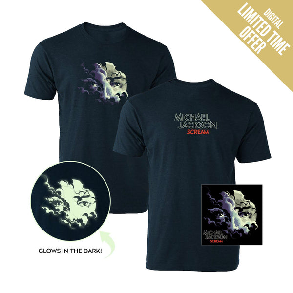Scream Digital Album + T-shirt (Heather Navy)