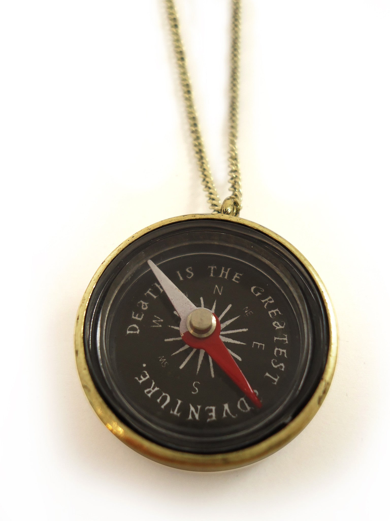 jewelry product in gallery gold outfitters urban lyst metallic compass necklace