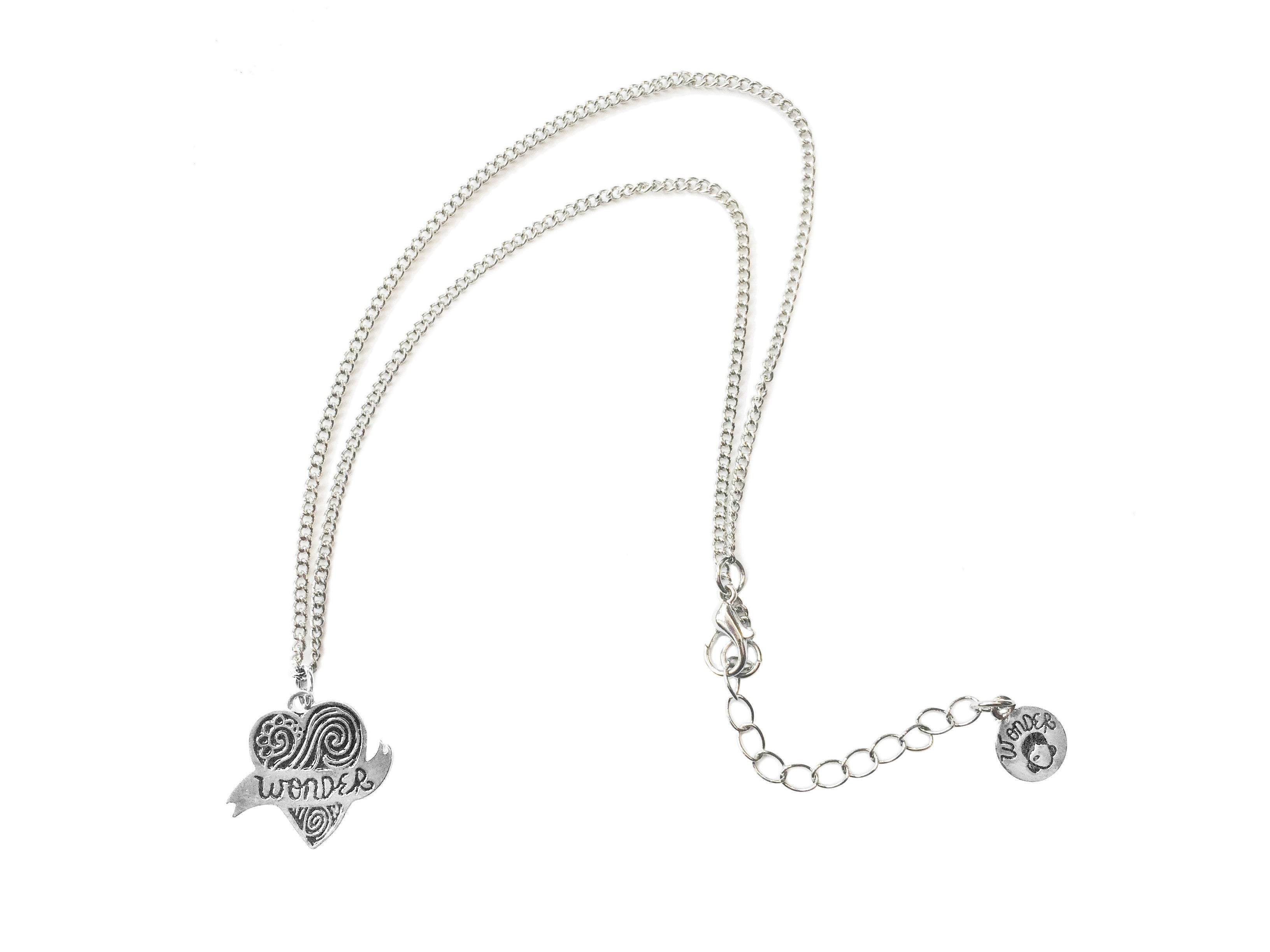 heart infinity charm diamond centres silver necklace product sterling