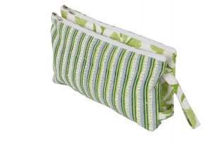 Radiance Fabric Double Zipper Pouch Lg