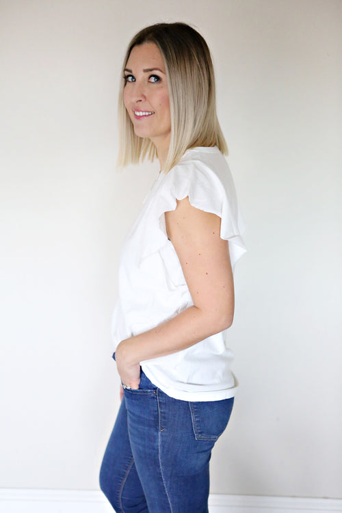 Meghan Top - White - FINAL SALE
