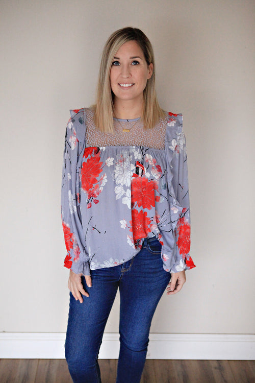 Katherine Top - FINAL SALE - Gray Monroe