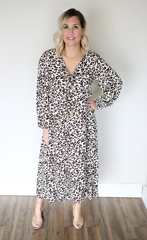 Leopard Boho Dress - FINAL SALE