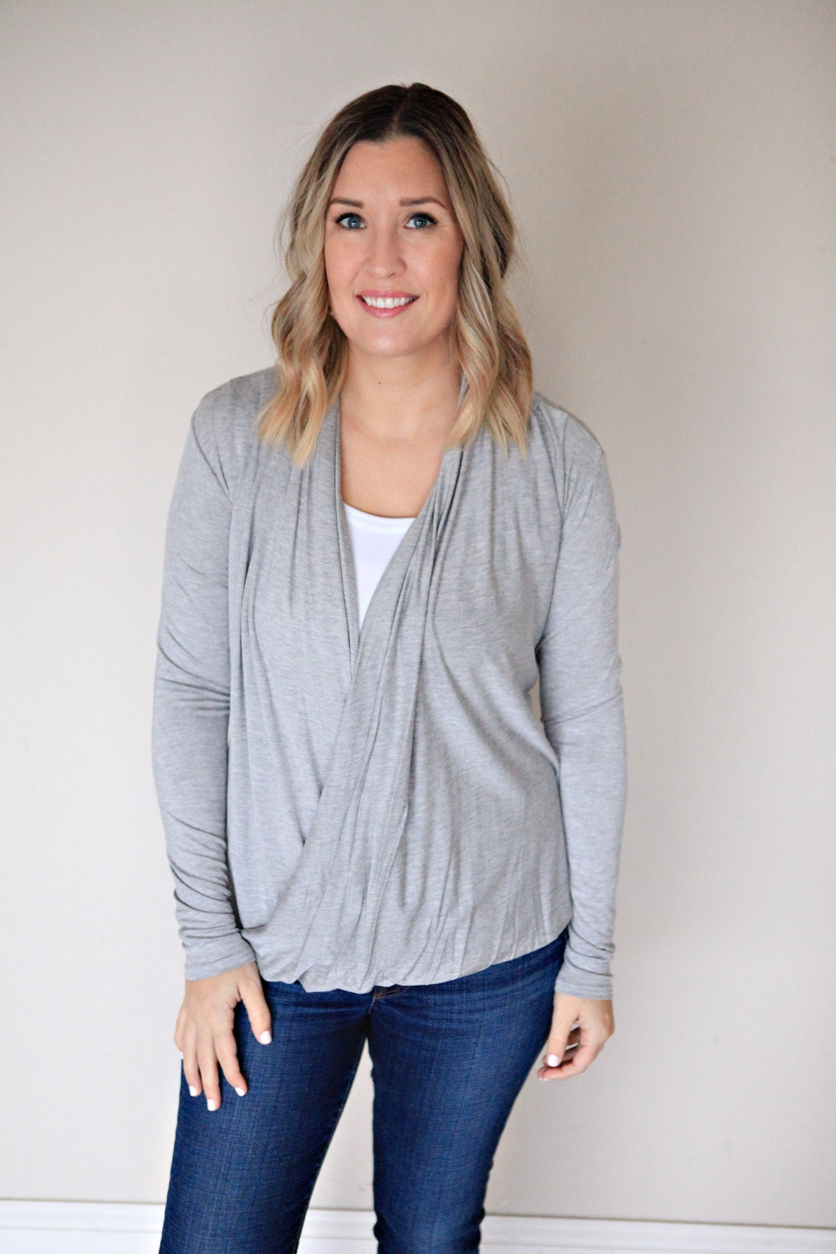 Alivia Top - Grey - FINAL SALE - Gray Monroe