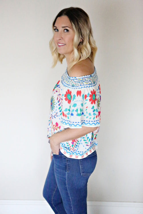 Posie Top - Ivory - FINAL SALE
