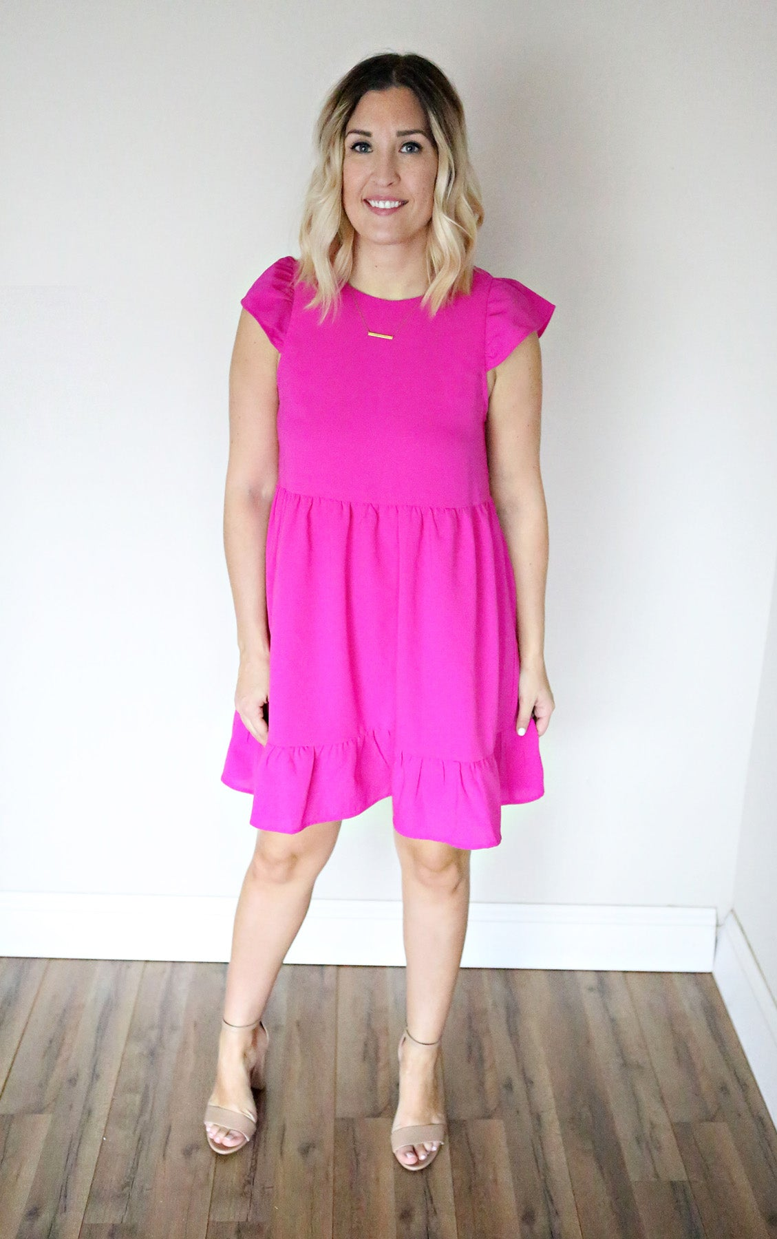 Madden Dress - Fuschia - FINAL SALE