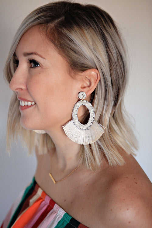 Shayla Earrings - Ivory
