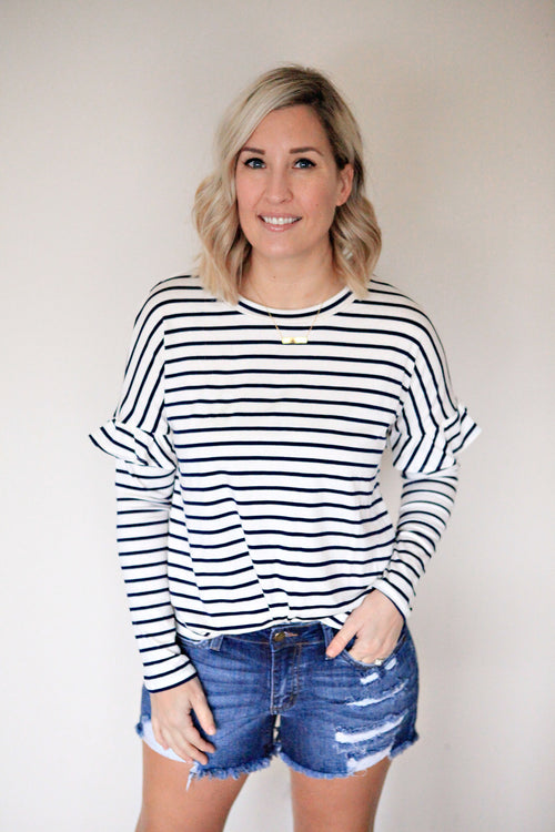 Dawson Top - FINAL SALE - Gray Monroe