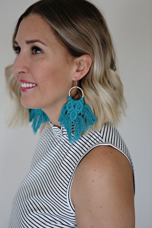 Edie Macrame Earrings