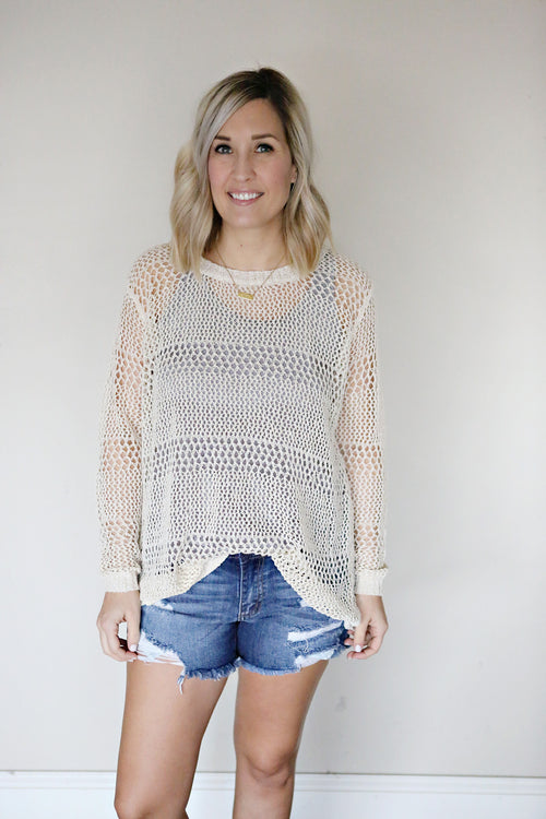 Tennyson Open Back Sweater - FINAL SALE
