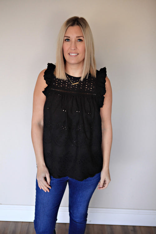 Moxie Eyelet Top - FINAL SALE