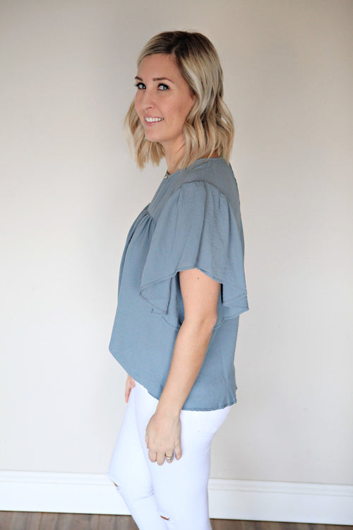 Helena Top - FINAL SALE - Gray Monroe