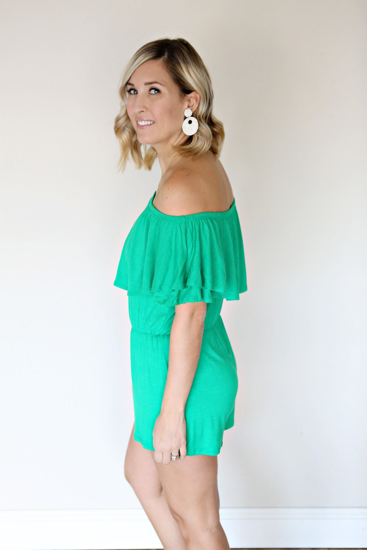 Natasha Romper - Green - FINAL SALE