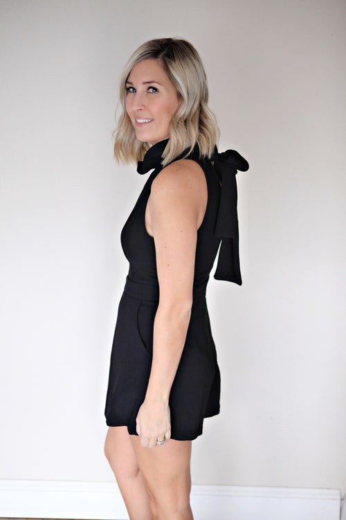 Ryder Romper - Black - FINAL SALE