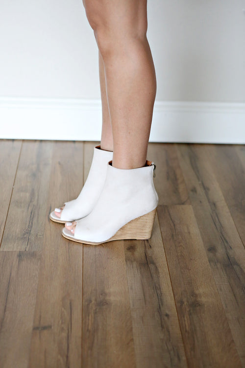 Sabrina Peep Toe Wedges - FINAL SALE