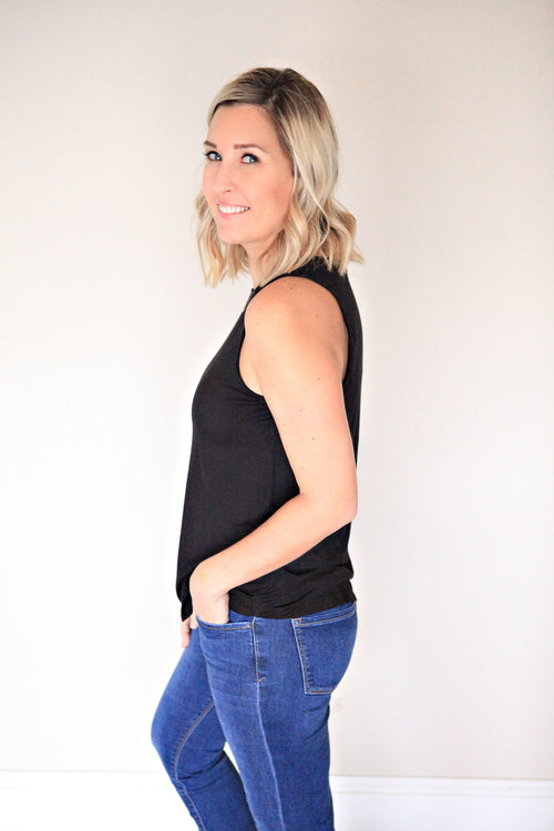 Laurel Tank - Black - FINAL SALE - Gray Monroe