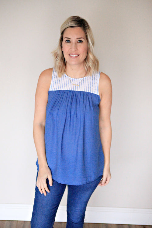 Baylor Top - FINAL SALE - Gray Monroe