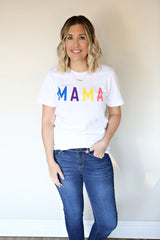 Mama Graphic Tee - Rainbow (TAKE 50% OFF WITH CODE SALEONSALE)