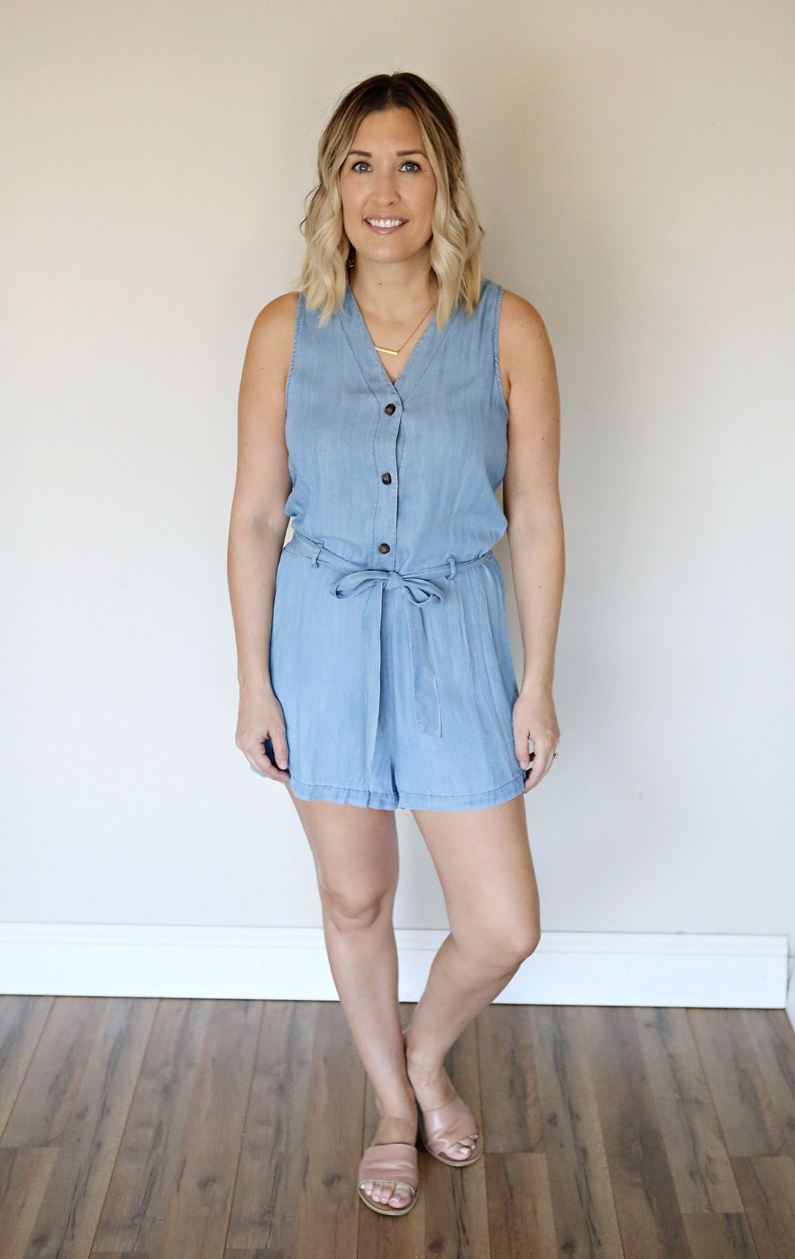 Arie Chambray Romper