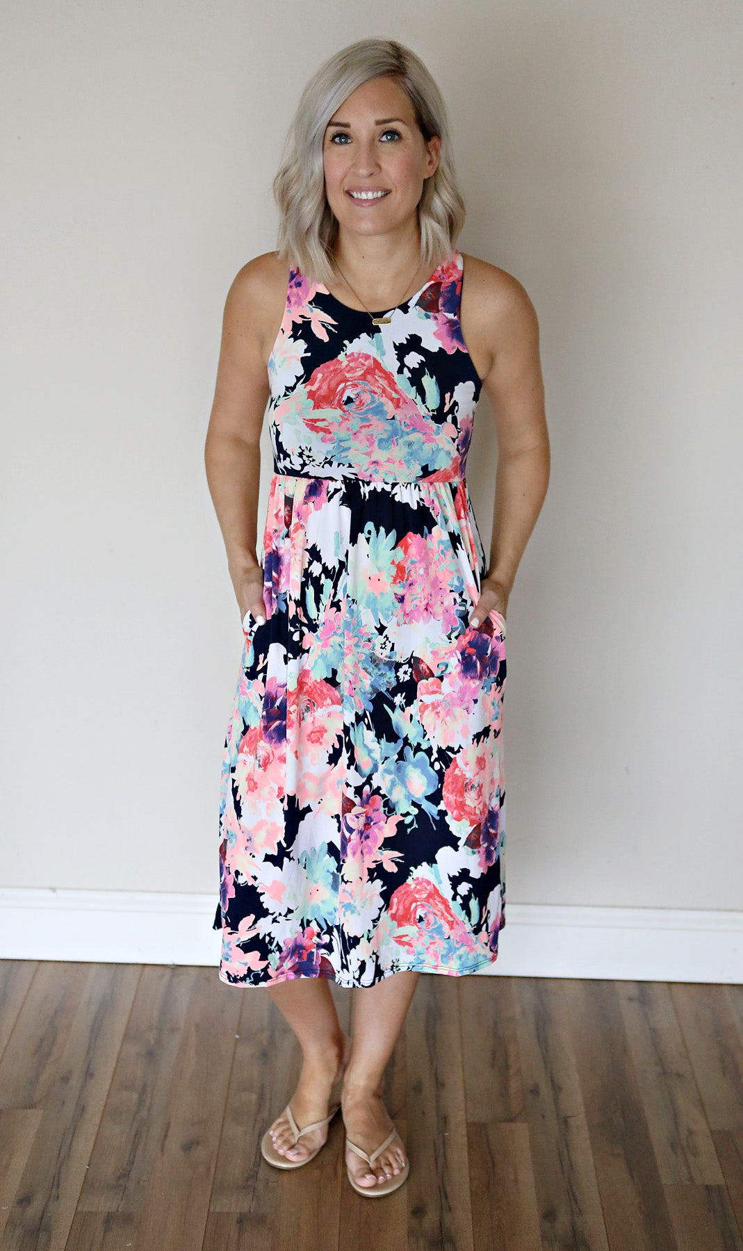 Huntley Dress - Floral - FINAL SALE - Gray Monroe