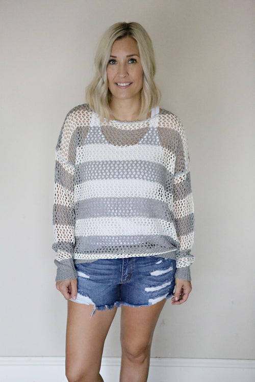 Lila Sweater - FINAL SALE - Gray Monroe
