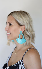 Shayla Earrings - Aqua