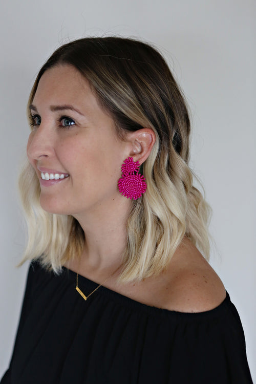 Remi Earrings - Pink