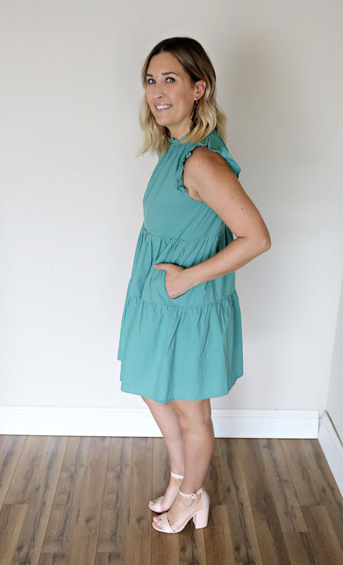 PRE-ORDER Caleb Dress - Teal