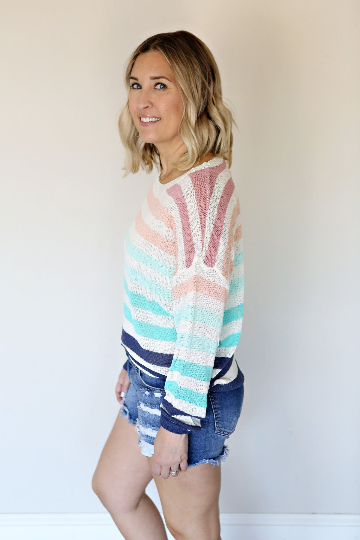 Marcie Sweater - Navy - TAKE 50% OFF WITH CODE 'GOODBYESUMMER'