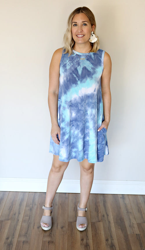 PRE-ORDER Viv Dress - Blue