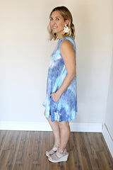 Viv Dress - Blue - TAKE 50% OFF WITH CODE 'GOODBYESUMMER'