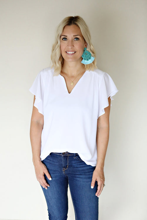 Evie Top - FINAL SALE - Gray Monroe