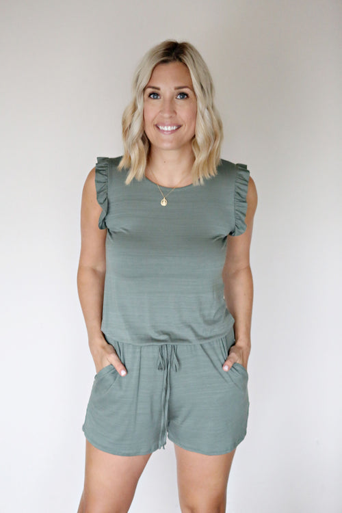 Collin Romper - FINAL SALE - Gray Monroe