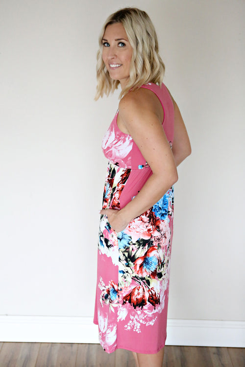 Huntley Floral Dress - Pink - FINAL SALE - Gray Monroe