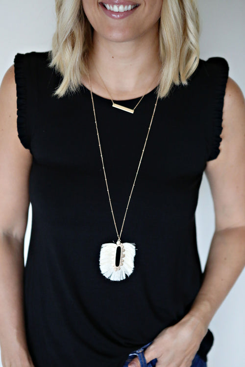 Eden Tassel Necklace - FINAL SALE - Gray Monroe