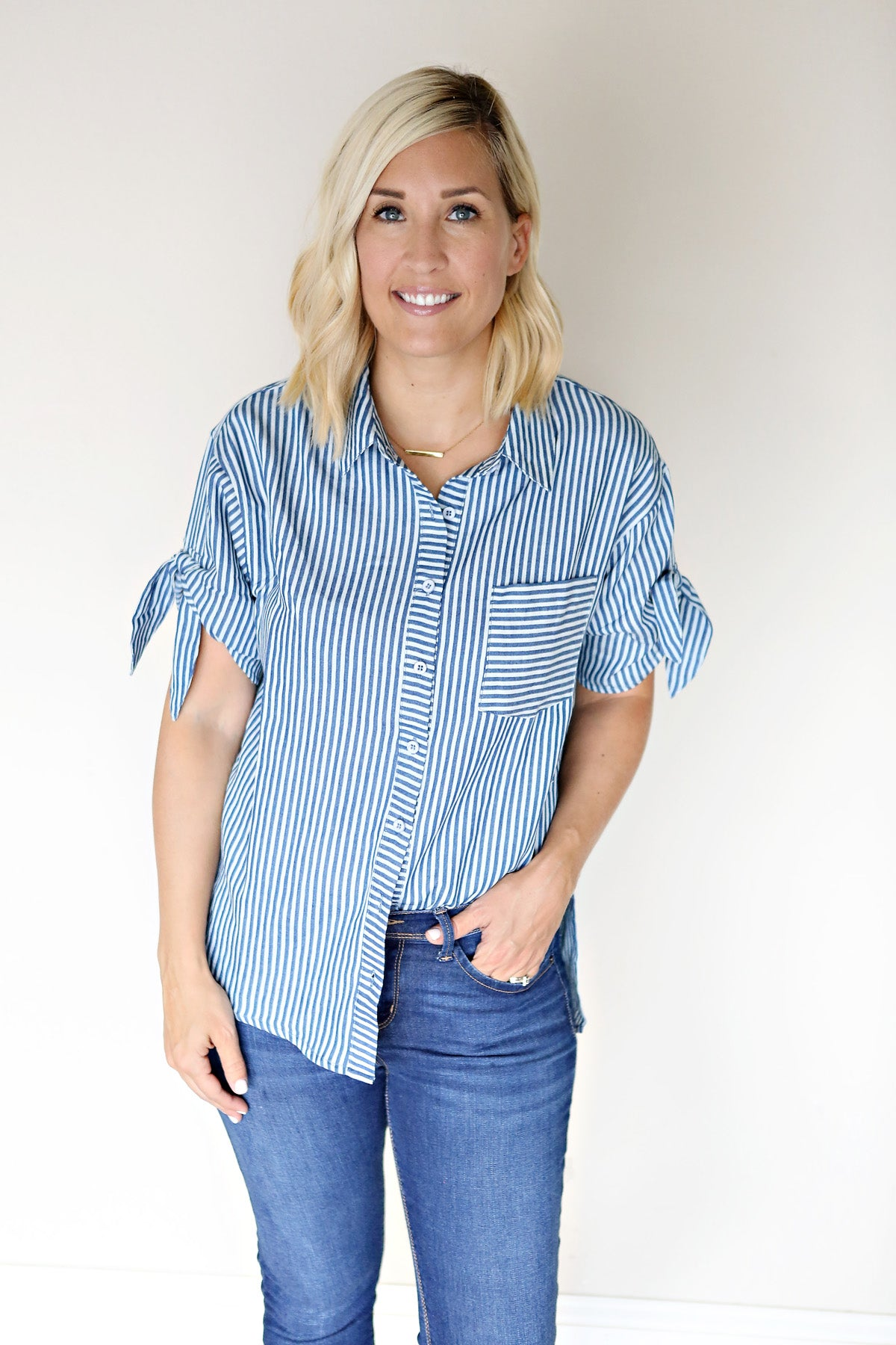 Sloane Top - FINAL SALE - Gray Monroe