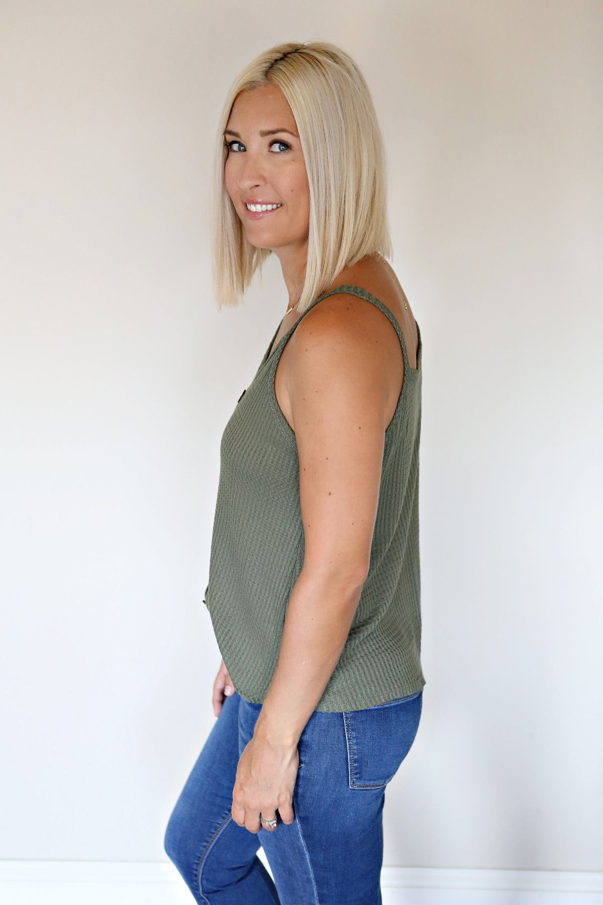 Kate Top - Olive - Gray Monroe