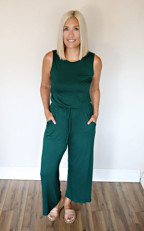 Miley Jumpsuit - Green - Gray Monroe