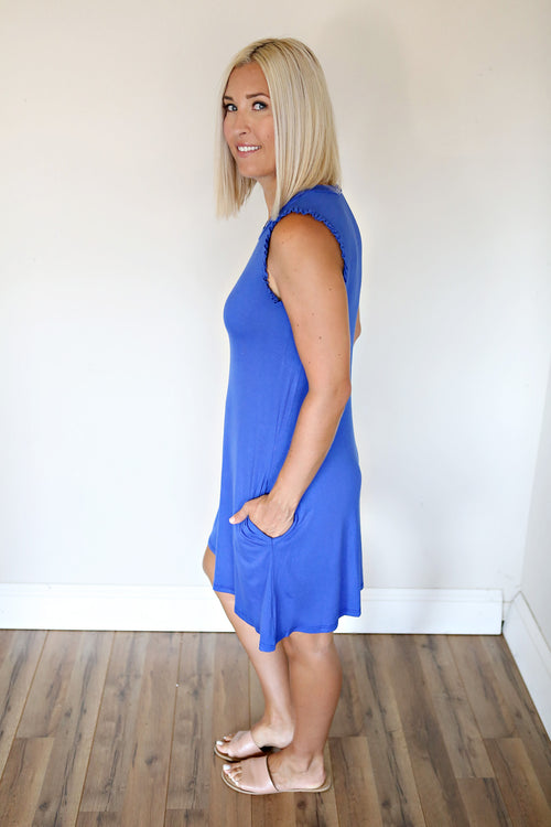 Theo Dress - Royal Blue - FINAL SALE - Gray Monroe